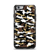 The Green-Tan & White Traditional Camouflage Apple iPhone 6 Otterbox Symmetry Case Skin Set