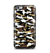 The Green-Tan & White Traditional Camouflage Apple iPhone 6 Plus Otterbox Symmetry Case Skin Set