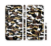 The Green-Tan & White Traditional Camouflage Sectioned Skin Series for the Apple iPhone 6