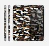 The Green-Tan & White Traditional Camouflage Skin for the Apple iPhone 6