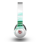 The Green Abstract Vector HD Lines Skin for the Beats by Dre Original Solo-Solo HD Headphones