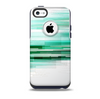 The Green Abstract Vector HD Lines Skin for the iPhone 5c OtterBox Commuter Case