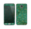 The Green and Brown Diamond Pattern Skin For the Samsung Galaxy S5