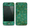 The Green And Gold Vintage Scissors Skin for the Apple iPhone 4-4s