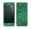 The Green And Gold Vintage Scissors Skin for the Apple iPhone 5s