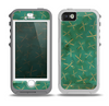 The Green And Gold Vintage Scissors Skin for the iPhone 5-5s OtterBox Preserver WaterProof Case