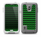 The Green & Black Chevron Pattern Skin for the Samsung Galaxy S5 frē LifeProof Case