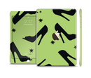 The Green & Black High-Heel Pattern V12 Full Body Skin Set for the Apple iPad Mini 3