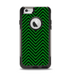 The Green & Black Sharp Chevron Pattern Apple iPhone 6 Otterbox Commuter Case Skin Set