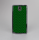 The Green & Black Sharp Chevron Pattern Skin-Sert Case for the Samsung Galaxy Note 3