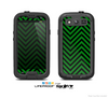 The Green & Black Sharp Chevron Pattern Skin For The Samsung Galaxy S3 LifeProof Case