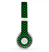 The Green & Black Sharp Chevron Pattern Skin for the Beats by Dre Solo 2 Headphones