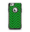 The Green & Black Sketch Chevron Apple iPhone 6 Otterbox Commuter Case Skin Set