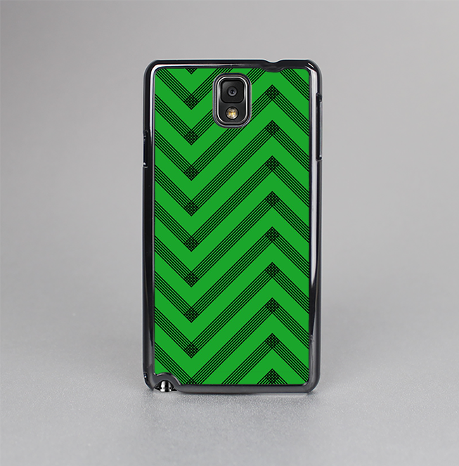 The Green & Black Sketch Chevron Skin-Sert Case for the Samsung Galaxy Note 3