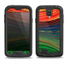 The Green, Blue and Red Painted Oil Waves Samsung Galaxy S4 LifeProof Nuud Case Skin Set
