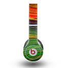 The Green, Blue and Red Painted Oil Waves Skin for the Beats by Dre Original Solo-Solo HD Headphones