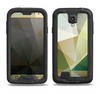 The Green Geometric Gradient Pattern Samsung Galaxy S4 LifeProof Fre Case Skin Set