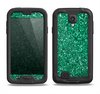 The Green Glitter Print Samsung Galaxy S4 LifeProof Fre Case Skin Set