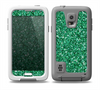 The Green Glitter Print Skin for the Samsung Galaxy S5 frē LifeProof Case