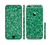 The Green Glitter Print Sectioned Skin Series for the Apple iPhone 6