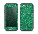 The Green Glitter Print Skin Set for the iPhone 5-5s Skech Glow Case
