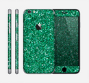 The Green Glitter Print Skin for the Apple iPhone 6