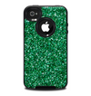 The Green Glitter Print Skin for the iPhone 4-4s OtterBox Commuter Case