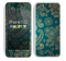 The Green & Gold Lace Pattern Skin for the Apple iPhone 5c