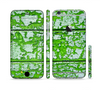 The Green Grunge Wood Sectioned Skin Series for the Apple iPhone 6 Plus