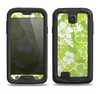 The Green Hawaiian Floral Pattern V4 Samsung Galaxy S4 LifeProof Fre Case Skin Set