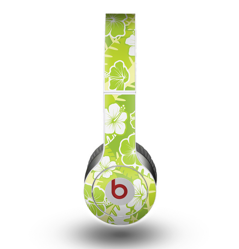 The Green Hawaiian Floral Pattern V4 Skin for the Beats by Dre Original Solo-Solo HD Headphones