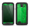 The Green Highlighted Wooden Planks Samsung Galaxy S4 LifeProof Fre Case Skin Set