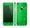 The Green Highlighted Wooden Planks Skin Set for the Apple iPhone 5s