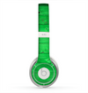 The Green Highlighted Wooden Planks Skin for the Beats by Dre Solo 2 Headphones
