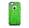 The Green Highlighted Wooden Planks Skin for the iPhone 5c OtterBox Commuter Case