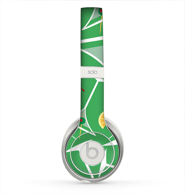 The Green Martini Drinks With Lemons Skin for the Beats by Dre Solo 2 Headphones
