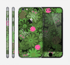 The Green Retro Floral and Skulls Skin for the Apple iPhone 6