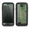 The Green Tinted Wood Planks Samsung Galaxy S4 LifeProof Fre Case Skin Set