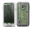 The Green Tinted Wood Planks Skin for the Samsung Galaxy S5 frē LifeProof Case
