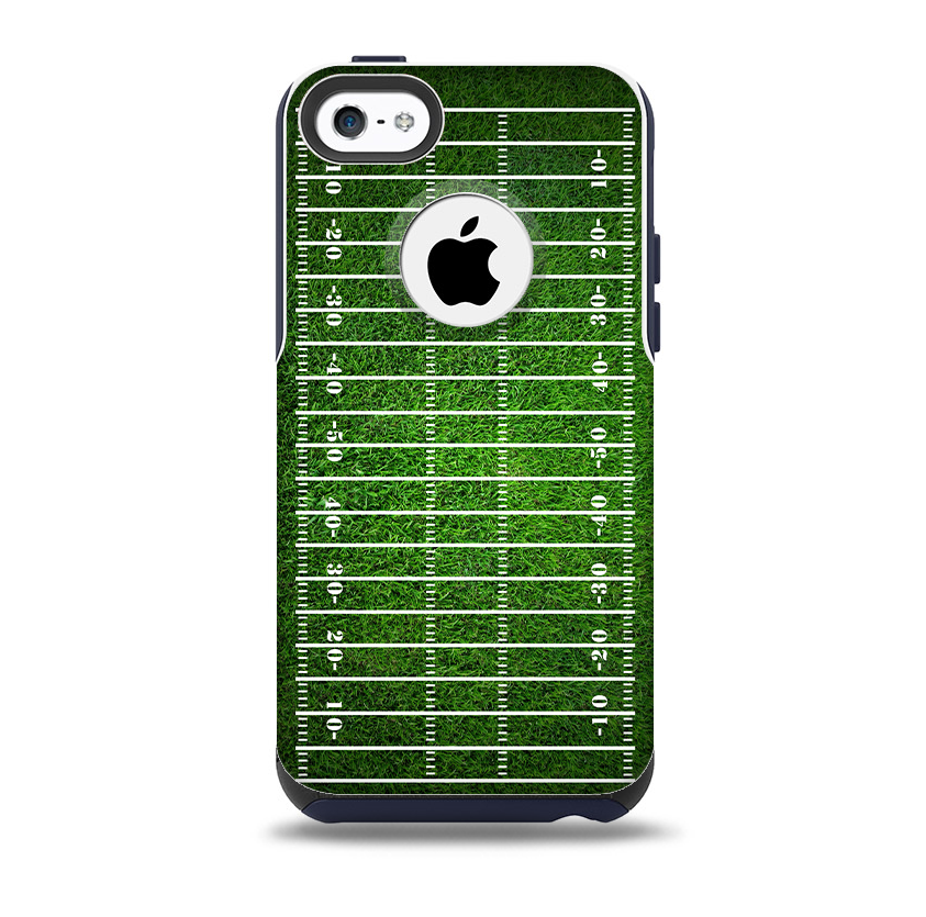 new product 6f117 c1c3a The Green Turf Football Field Skin for the iPhone 5c OtterBox Commuter Case