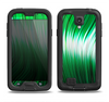 The Green Vector Swirly HD Strands Samsung Galaxy S4 LifeProof Fre Case Skin Set