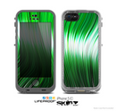 The Green Vector Swirly HD Strands Skin for the Apple iPhone 5c LifeProof Case