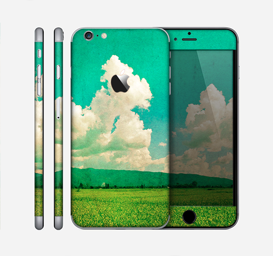 The Green Vintage Field Scene Skin for the Apple iPhone 6 Plus