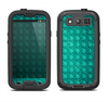 The Green Wavy Abstract Pattern Samsung Galaxy S4 LifeProof Nuud Case Skin Set