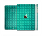 The Green Wavy Abstract Pattern Full Body Skin Set for the Apple iPad Mini 3