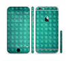 The Green Wavy Abstract Pattern Sectioned Skin Series for the Apple iPhone 6