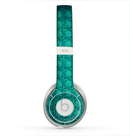 The Green Wavy Abstract Pattern Skin for the Beats by Dre Solo 2 Headphones