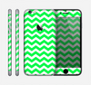 The Green & White Chevron Pattern Skin for the Apple iPhone 6