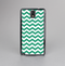 The Green & White Chevron Pattern V2 Skin-Sert Case for the Samsung Galaxy Note 3