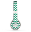 The Green & White Chevron Pattern V2 Skin for the Beats by Dre Solo 2 Headphones